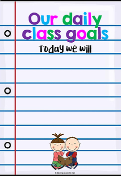 Beginning of Year Student Goals Booklet