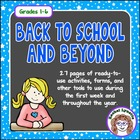 Back to School and Beyond: Activities &amp; Classroom Manageme