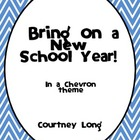 Beginning of the Year Packet - Chevron Theme