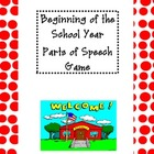Beginning of the Year Spin a Sentence Game