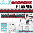 Beginning of the Year Teacher Packet (Black, Red, & White)