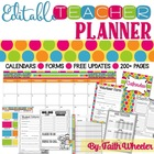 Teacher Binder & Organization Packet (Polka Dots)