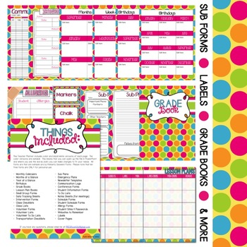 Beginning of the Year Teacher Packet (Polka Dots)