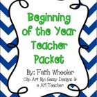 Beginning of the Year Teacher Packet (Zig Zag)