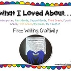Beginning or End of the Year Writing Craftivity {FREEBIE}