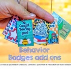 Behavior Badges/ Work Hard, Be a Buddy, Super Speller