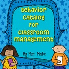 Behavior Catalog &amp; Reward Coupons for Rewarding Awesome Behavior