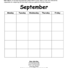 Behavior Chart Monthly Calendar