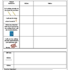 Behavior Chart for desk work