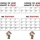 Behavior Charts for each Month