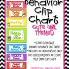 Behavior Clip Chart: Owl Theme