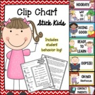 "Behavior Clip Chart - ""Stick Kid""-themed"