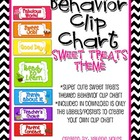 Behavior Clip Chart: Sweet Treats Theme