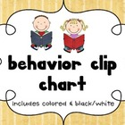 Behavior Clip Chart: With Top of the Chart Sheet!