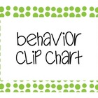 Behavior Clip Chart polka dot