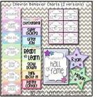 Behavior Color Chart {Chevron &amp; Dots}