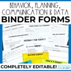 Behavior, Data, Lesson & Communication Teacher Resources