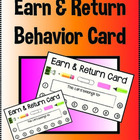 FREE Behavior Earn & Return Card