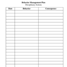 Behavior Management Form