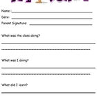 Behavior Management - Notification to Parent from Child