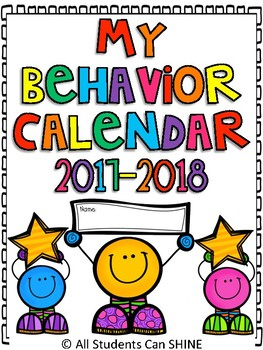 Behavior Management Plan - Calendars & Clip Chart