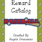 Behavior Management Reward Catalog &amp; Punch Cards Baseball Theme