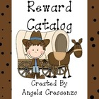 Behavior Management Reward Catalog & Punch Cards Cowboy Theme
