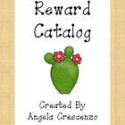 Behavior Management Reward Catalog & Punch Cards Desert Theme