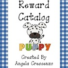 Behavior Management Reward Catalog & Punch Cards Dog/Puppy Theme