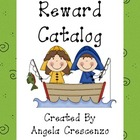 Behavior Management Reward Catalog & Punch Cards Fishing Theme