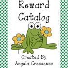 Behavior Management Reward Catalog & Punch Cards Frog Theme