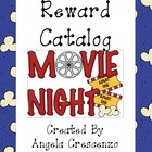 Behavior Management Reward Catalog &amp; Punch Cards Movie Theme