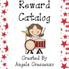 Behavior Management Reward Catalog &amp; Punch Cards Music Kids Theme
