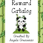 Behavior Management Reward Catalog &amp; Punch Cards Panda Theme