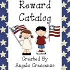 Behavior Management Reward Catalog &amp; Punch Cards Patriotic Theme