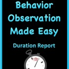 Behavior Observation Made Easy: Duration Data Collection Form