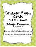 Behavior Punch Card- 12 & 20 Punches
