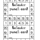 Behavior Punch Card No Picture