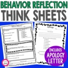 Behavior Reflection & Apology Letter