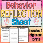 Behavior Reflection Form