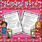 Behavior incentive: &quot;Happy note&quot; to parents