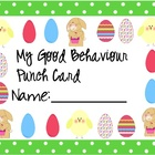Behaviour Card - Easter Themed