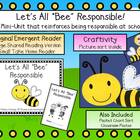 Being Responsible Emergent Reader &amp; Craftivity Pack
