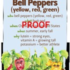 Bell Peppers Poster - Available in English and Spanish!