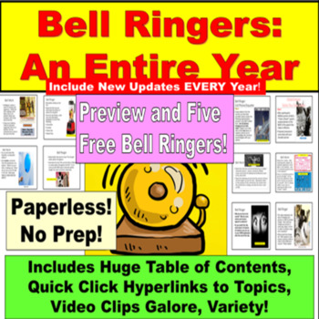 Bell Work: Writing Topics