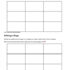 Bellringer Bingo Template ~ by Kim Townsel