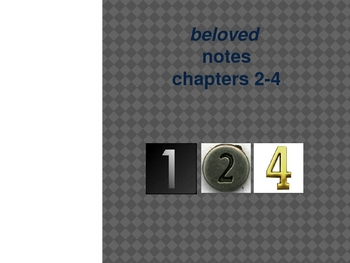 Beloved chapters 2-4 notes and analysis