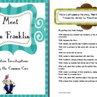 Ben Franklin Invention Investigations using the Common Core 