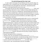 Beowulf & Background Fill-in Study Guide and KEY