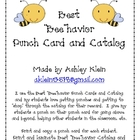 "Best ""Bee""havior Punch Cards and Catalog"